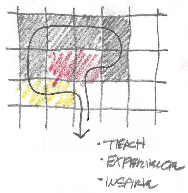 Conceptual sketch by architect.