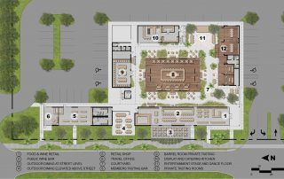 Site plan showing all buildings and their relationships.