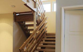 Custom wood interior staircase.