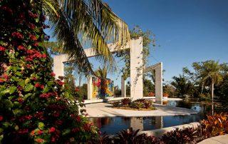 Brazilian garden concrete structures.