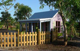 Small cottage in children's garden.